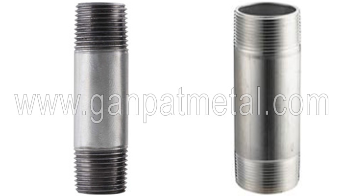 Steel threaded pipe nipple manufacturers in india astm